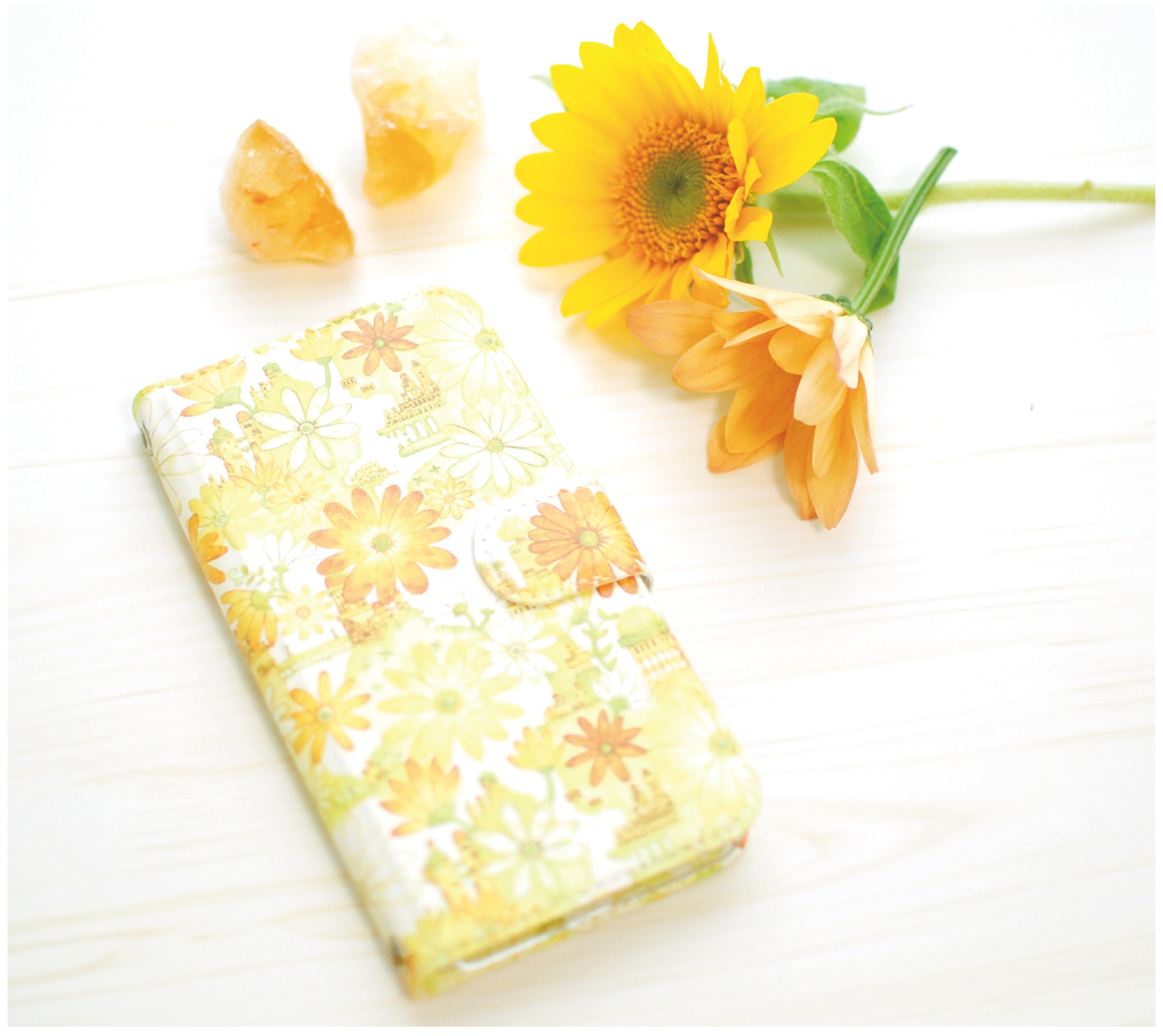 iPhoneSE/6s/7/8/X/Xs 手帳型iPhoneケース「ボタニカルの古都」【内側デザイン可!】
