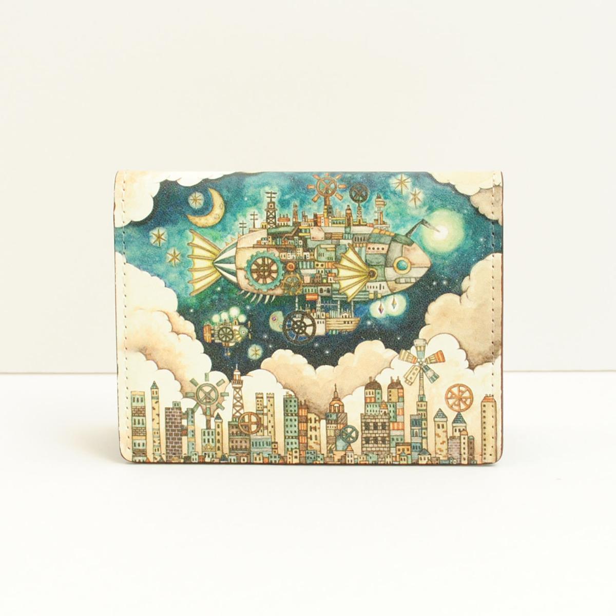 カードケース「空飛ぶ魚の街」