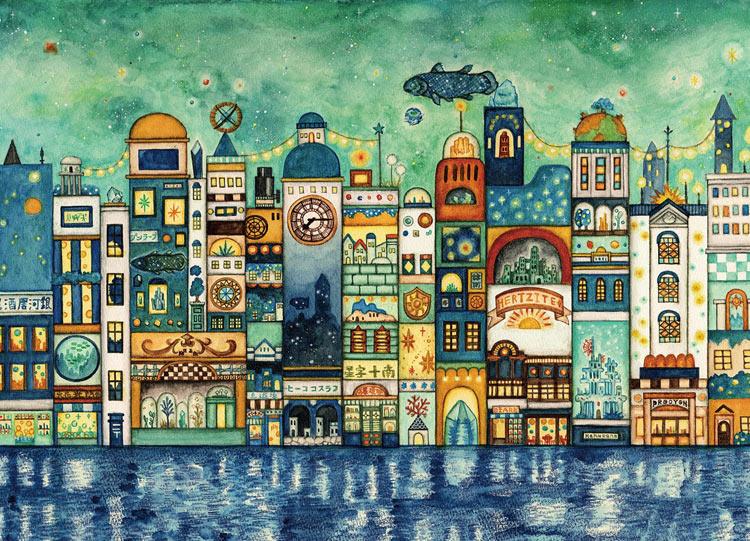 星降る夜の街 500ピース ジグソーパズル