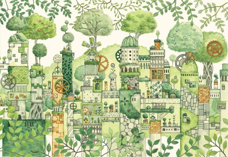 緑の文明 300ピース ジグソーパズル