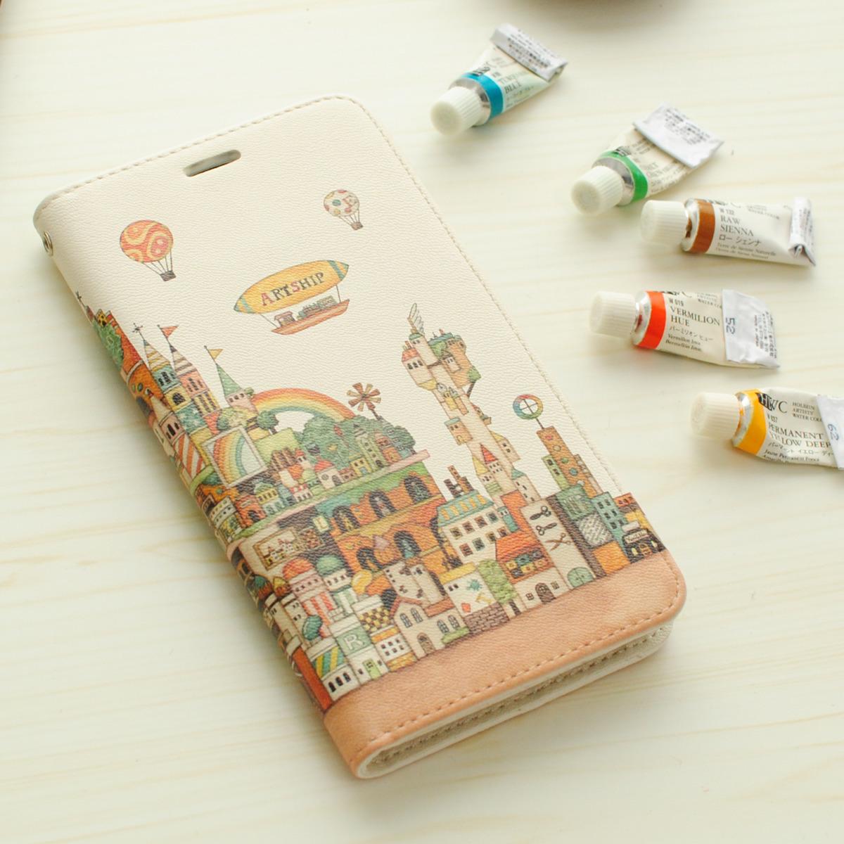 「画材の王国」iPhone11・11pro・XR・MAX手帳型スマホケース【内側デザイン入り、ベルトなし】