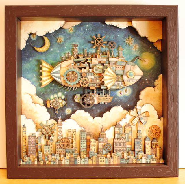 3次元BOX「空飛ぶ魚の街」