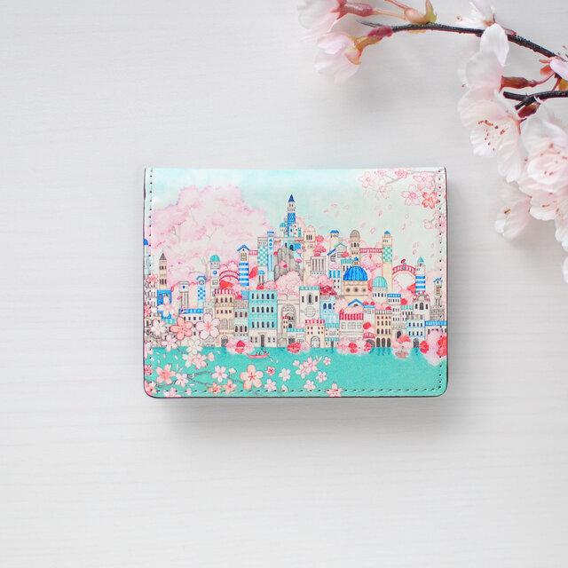 カードケース「古の桜と青い都」