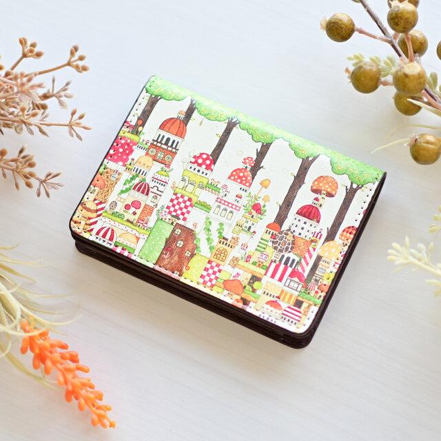 カードケース「森のキノコ旧市街」