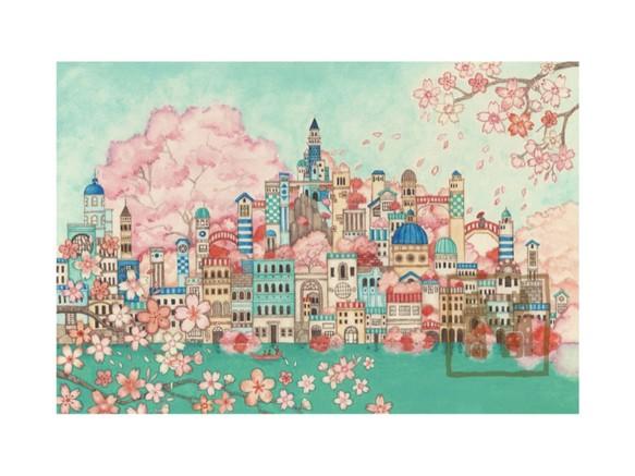 ポストカード4枚セット11「古の桜の青の都」