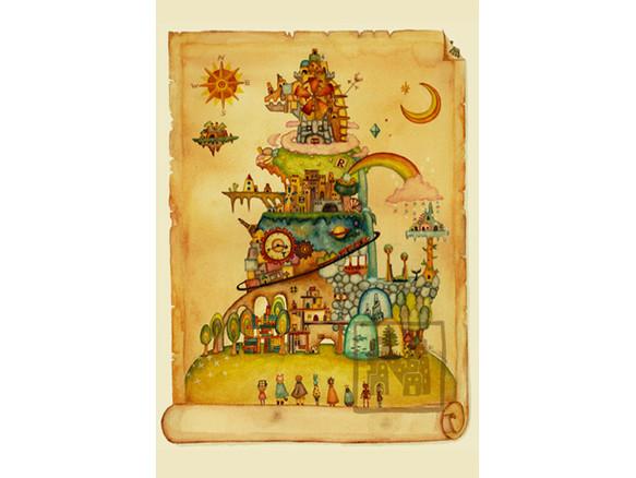 ポストカード4枚セット3「ドラゴン島」