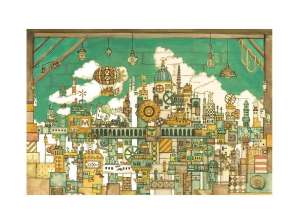 ポストカード4枚セット6「屋根裏部屋のネズミの王国」
