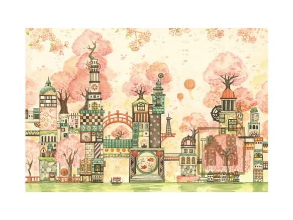 ポストカード4枚セット7「桜町三十四番街」