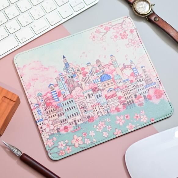 マルチパッド「古の桜と青い都」マウスパッド