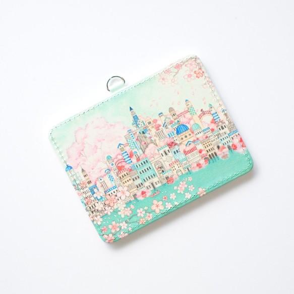 パスケース「古の桜と青い都」