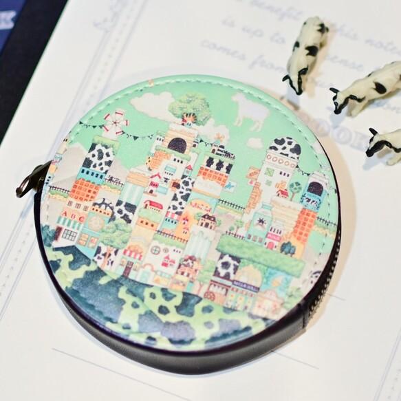 ミニコインケース「ミルクの文明」丸型ポーチ