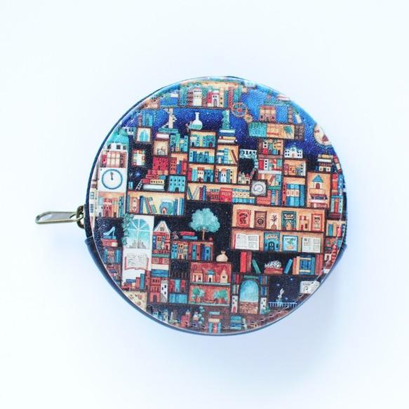 ミニコインケース「忘れられた本たちの王国」丸型ポーチ